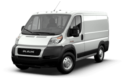 Front side view of Ram ProMaster