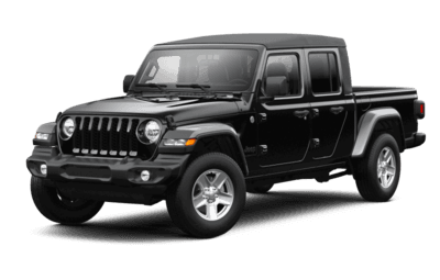 Front side view of Jeep Gladiator Sport S