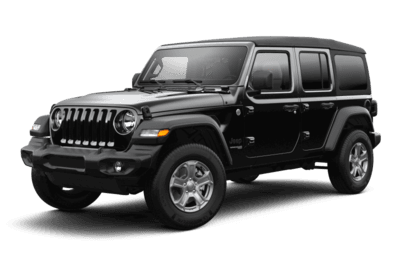 Front side view of Jeep Wrangler Sport S