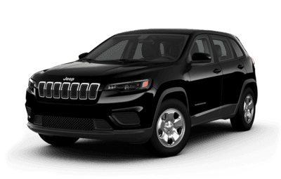Front side view of Jeep Cherokee Sport