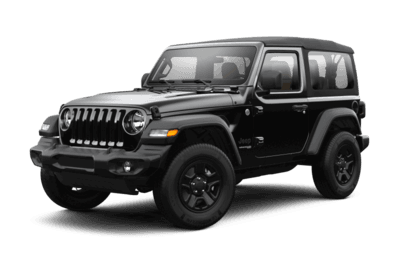 Front side view of Jeep Wrangler Sport